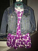 Б/У Комплект платье с джинсовой курткой, Childrens Place, на 3-4 года в отличном состоянии!