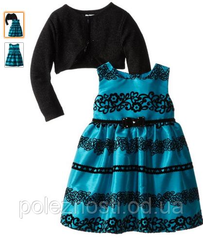 Б/У Платье морской волны, на 3-5 лет, ТМ Youngland Little Girls'