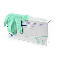 Перачтки нитриловые Polix PRO&MED (100 шт/ 50 пар  в упаковке) GREEN MINT(зеленая мята)