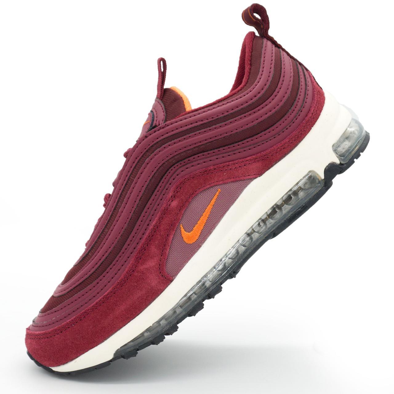 женские бордовые кроссовки Nike Air Max 97 Vietnam р36 37 38 40