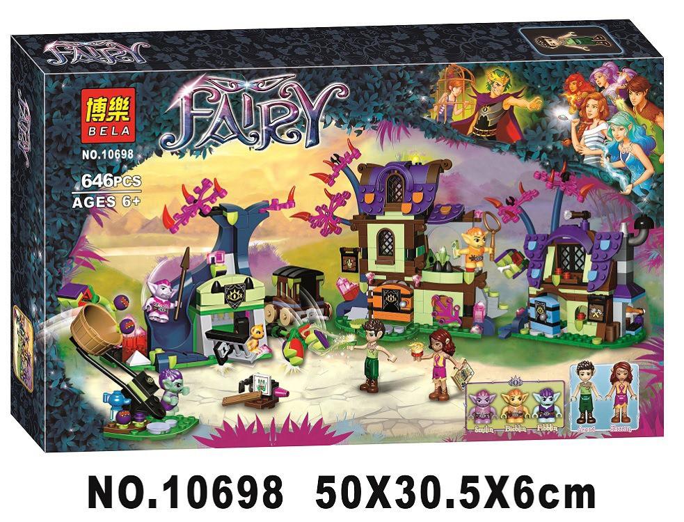 Конструктор Bela 10698 Fairy Elves Эльфы Побег из деревни гоблинов 646 деталей