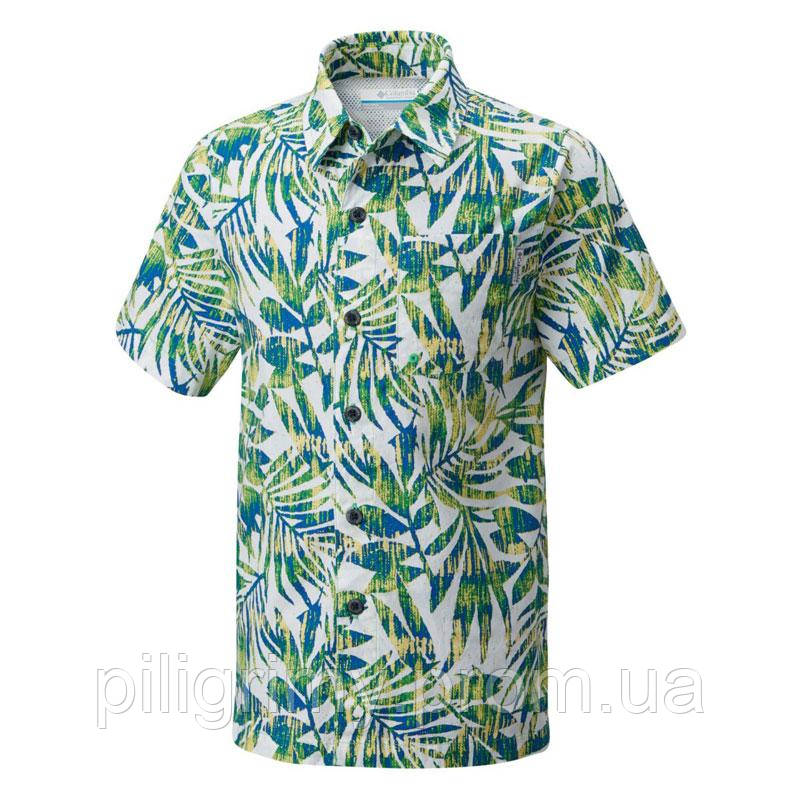 74f123744942fc6 Мужская рубашка Columbia TROLLERS BEST™ SHORT SLEEVE SHIRT зеленая FM7011  322 - интернет-магазин