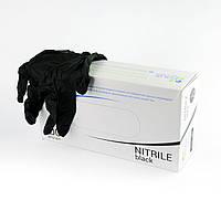 Extra Safe Black, 100 шт, нитриловые, медицинские перчатки, нестерильные, Polix PRO & MED