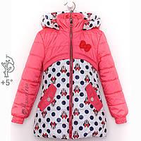 Детские куртки для девочек с Микки  маусами