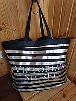 Сумка большая пляжная серебристая Victoria's Secret 1747, фото 1