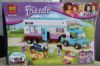 """Конструктор Bela Friends 10561 (LEGO Friends 41125) """"Ветеринарная машина для лошадок"""""""
