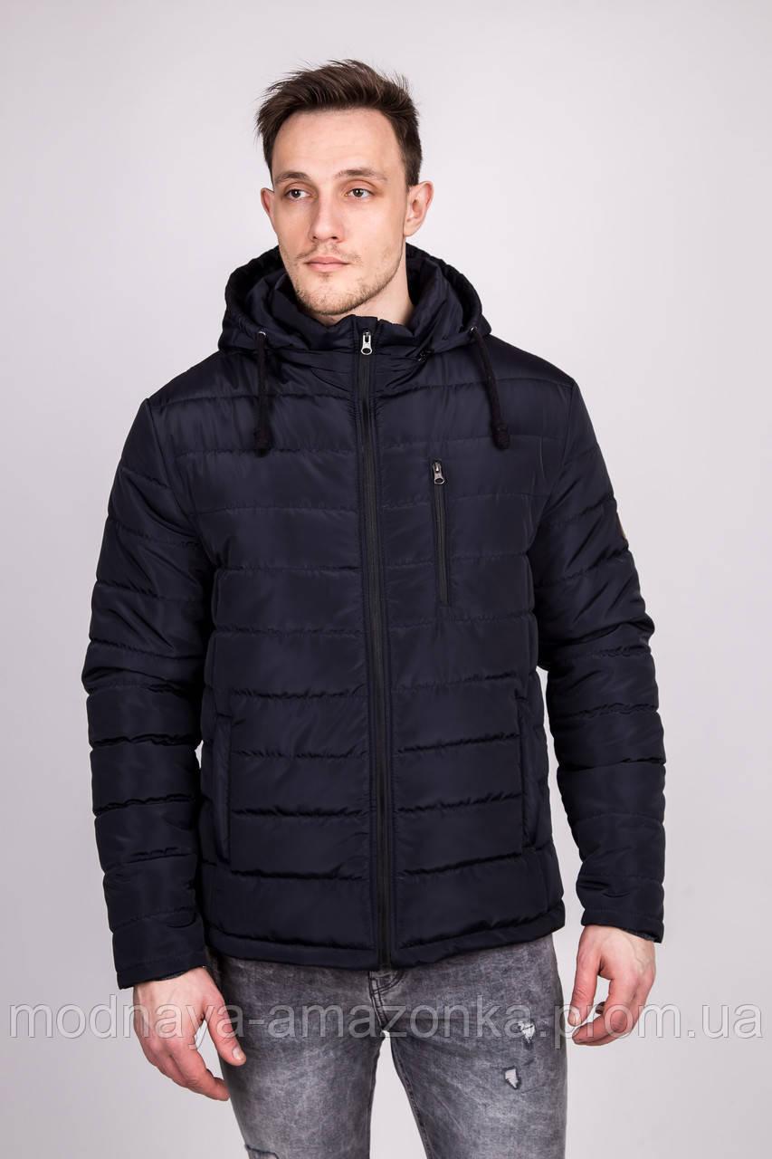 1dd2481e355 Стёганая мужская куртка с капюшоном зимняя