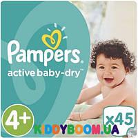 Подгузники Pampers Active Baby Dry 4+ Maxi (9-16 кг) 45 шт