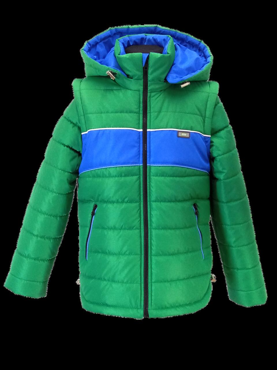 76d1236a29b Куртка жилет демисезонная на мальчика 368366 - Магазин детской одежды