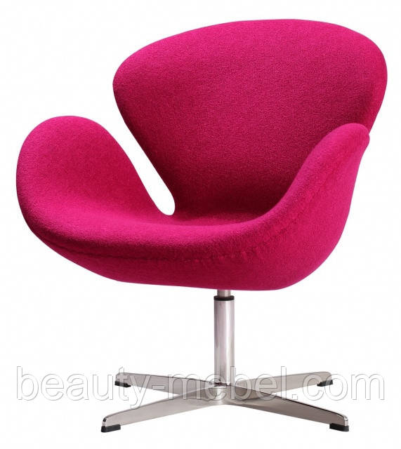 Дизайнерское мягкое кресло СВ, розовое
