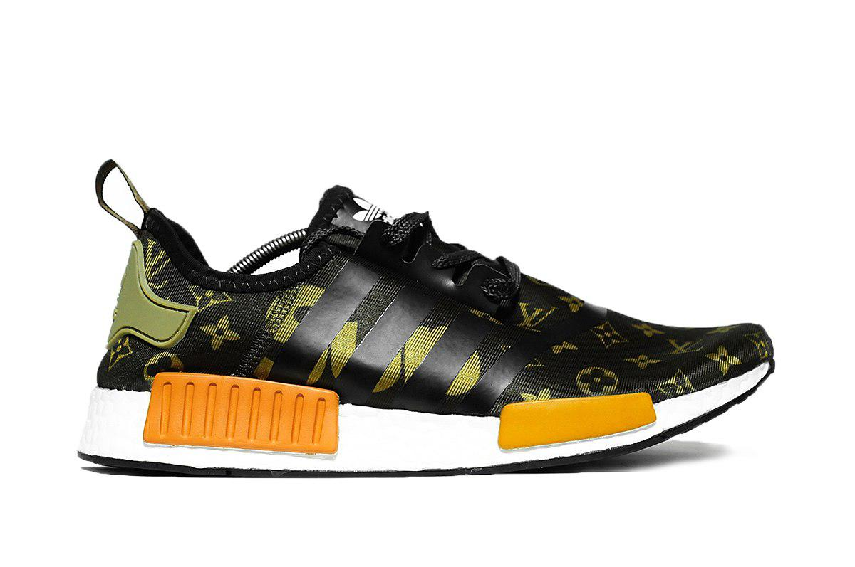 buy popular 916fa 04dcd Мужские кроссовки Adidas NMD Supreme x Louis Vuitton реплика