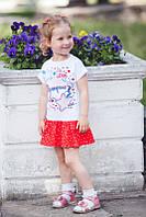 """Летнее платье для девочек """"Горошек"""". Размер 28 ( 86 см), 30 (98 см), 32 (110 см), фото 1"""
