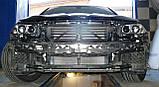 Декоративно-защитная сетка радиатора BMW 5 (F10) фальшрадиаторная решетка (ноздри), бампер, фото 3