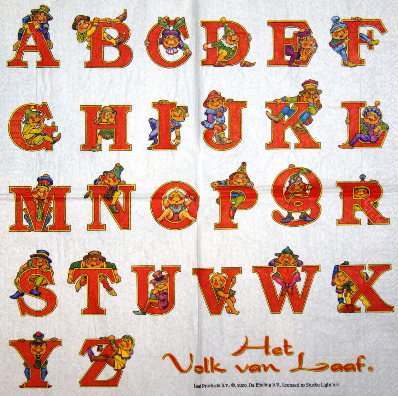 Салфетка декупажная Английский алфавит 7418