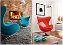 Дизайнерское мягкое кресло Эгг, черное , фото 2