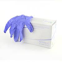 Перчатки нитриловые Polix PRO&MED (100 шт/ 50 пар) ФИЛЕТОВЫЕ, фото 1