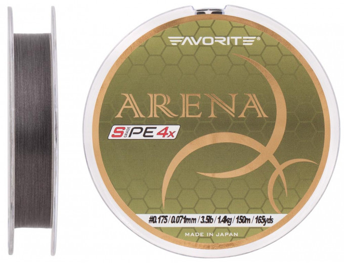 Шнур Favorite Arena PE 100m (silver gray) #0.175/0.071mm 3.5lb/1.4kg (1693.10.92 )