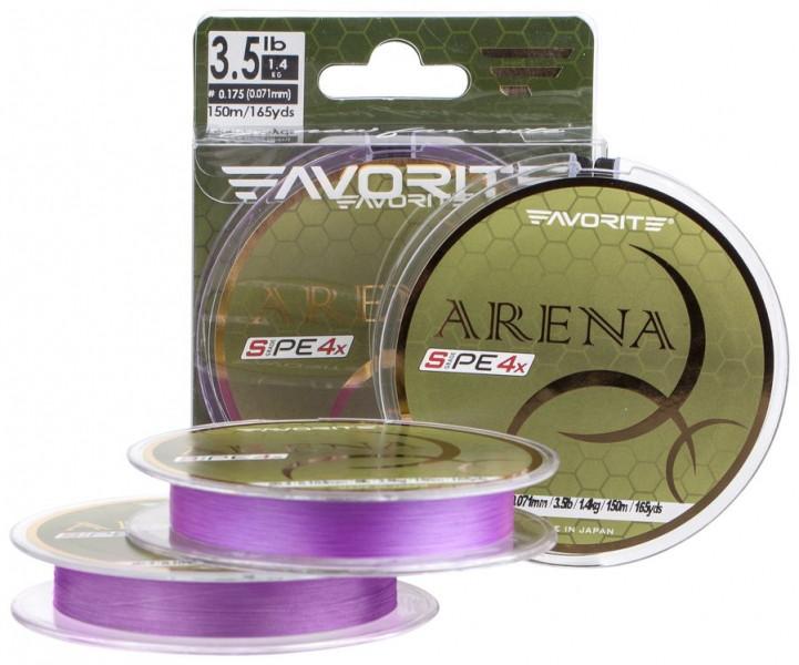 Шнур Favorite Arena PE 150м (purple) #0.175/0.071mm 3.5lb/1.4kg (1693.10.96 )