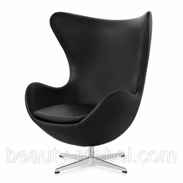 Дизайнерское мягкое кресло Эгг, черное