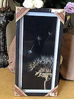 Картина с серебром Одуванчики декор стен