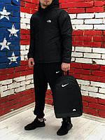Спортивный костюм мужской Ветровка + Штаны! черный