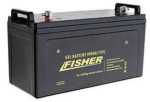 Электромотор лодочный (Фишер) Fisher 36 + аккумулятор Gel 100Ah, фото 3