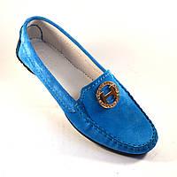 "Большой размер мокасины женские замшевые Ornella Blu Sky Vel BS by Rosso Avangard цвет голубой ""Небо"", фото 1"