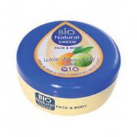 BIO NATURAL CREAM FACE & BODY wiht almond oil and Q10/ Крем для обличчя і тіла з мигдальним маслом та Q10