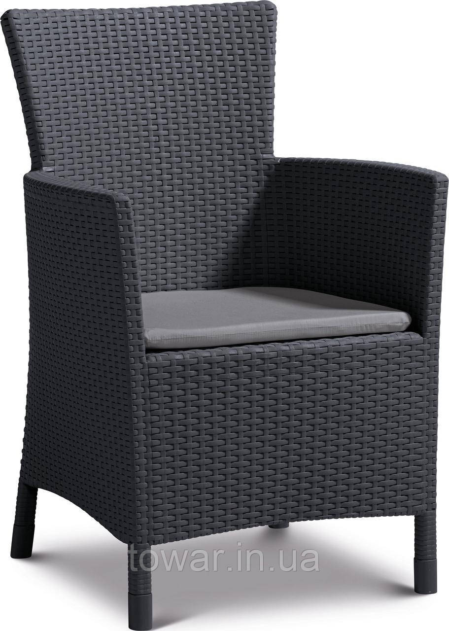 Кресло Allibert IOWA + подушка графит