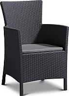 Кресло Allibert IOWA + подушка графит, фото 1