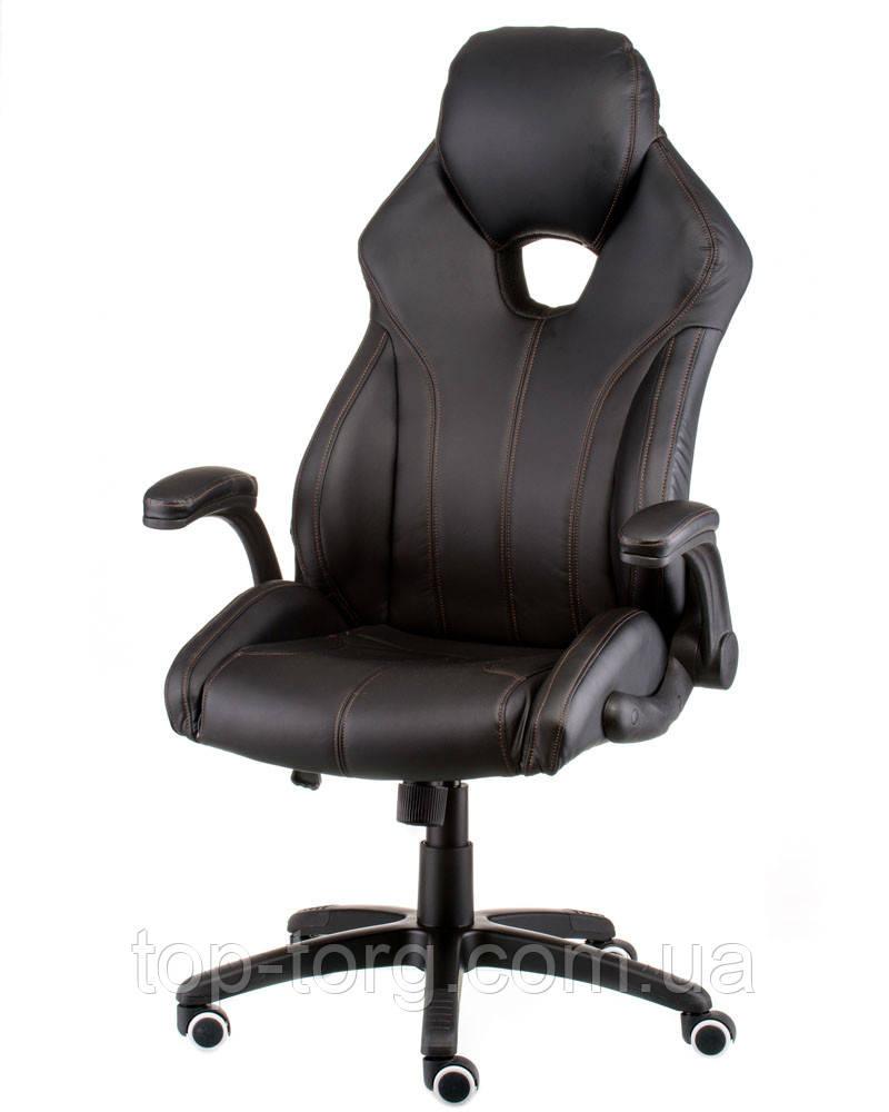 Крісло керівника, офісне Leader black чорний, чорне