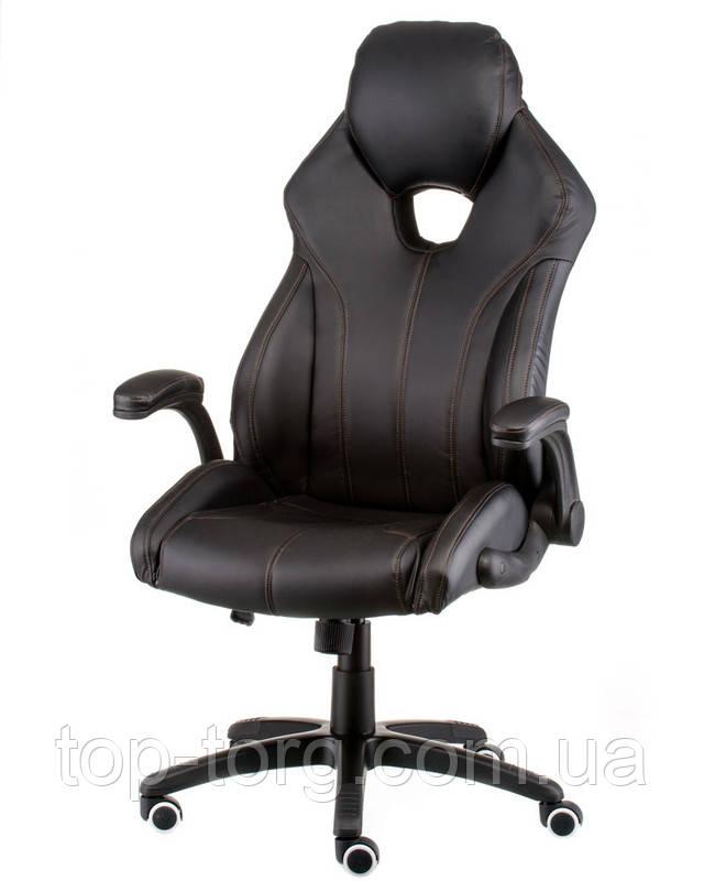 Крісло керівника, офісне Leader black чорне. E5333