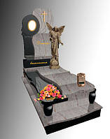 Пам'ятник одинарний гранітний Ангелом Е111