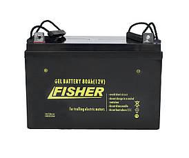 Электромотор лодочный (Фишер) Fisher 55 + два аккумулятора Gel 80Ah, фото 3