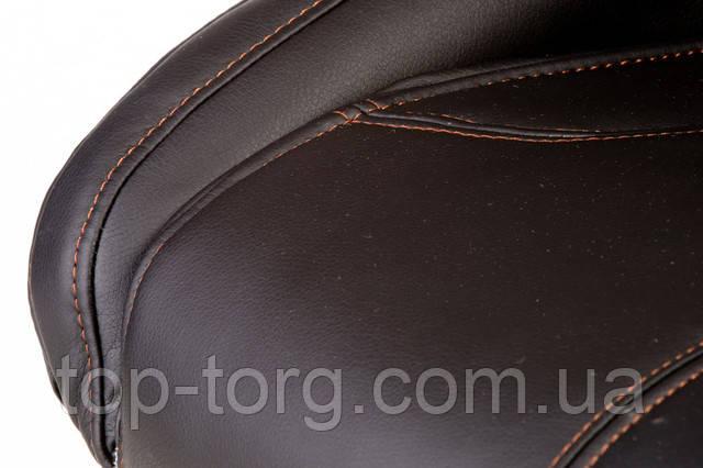 Крісло керівника, офісне Leader black чорне. E5333 З підйомними підлокітниками