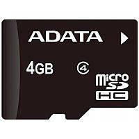 Карта пам'яті microSDHC A-DATA 4GB class 4 +adapter SD (AUSDH4GCL4-RA1)