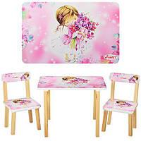Столик и 2 стульчика с девочкой, фото 1