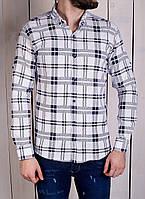 Мужская рубашка молодежная в клетку