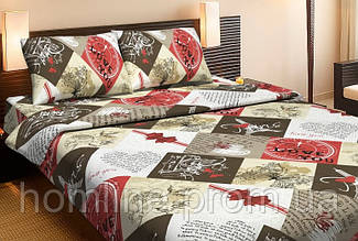 Постельное белье Lotus Ranforce Lory красное двухспального размера