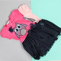 Детское платье для девочки с пайетками Совушка тм Breeze, Турция размер 5-8 лет