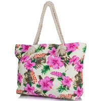 Женская пляжная тканевая сумка famo dc1810-04 с ручками