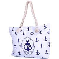 Женская пляжная тканевая сумка famo dc1813-02 с ручками