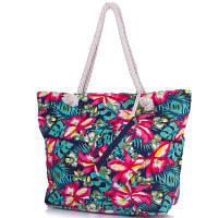 Женская пляжная тканевая сумка famo dc1804-01 с ручками