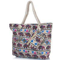 Женская пляжная тканевая сумка famo dc1803-05 с ручками