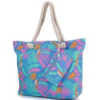 Женская пляжная тканевая сумка famo dc1803-02 с ручками