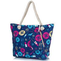 Женская пляжная тканевая сумка famo dc1806-03 с ручками