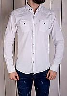 Рубашка мужская стильная белая