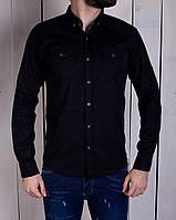 Мужская рубашка молодежная черная