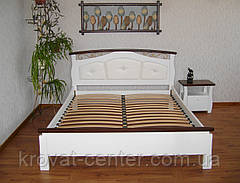 """Кровать с мягким изголовьем """"Миледи"""". Массив - сосна, ольха, береза, дуб., фото 3"""