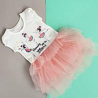 Детское платье для девочки Балерины фатиновая юбка тм Breeze, Турция р.92-116 см
